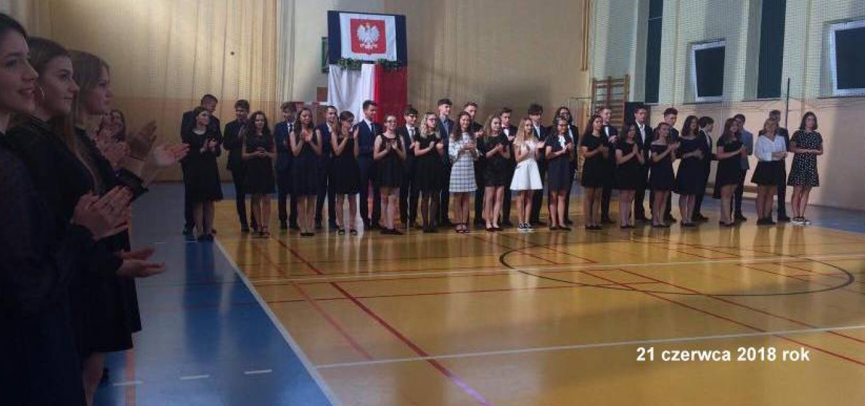 Pożegnanie uczniów klas trzecich gimnazjum